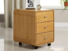 Jual Furnishings PC201 3 Drawer Mobile Desk Pedestal Unit in Oak *Free Delivery*