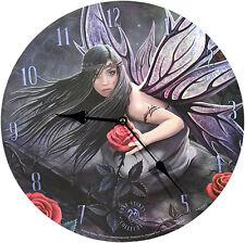 Wanduhr Rose Fairy Anne Stokes 34cm Bilderuhr UHR Fantasy Clock Mystik Gothic
