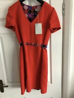 Emilio Pucci Red Ribbon Tie Dress RRP £795 Size 10 (42)