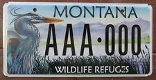 Montana 2008 WILDLIFE REFUGES GRAPHIC SAMPLE License Plate SUPERB # AAA-000