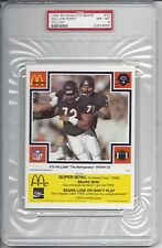 1985 McDonald's YELLOW #72 William PERRY - PSA 8+++ RC RARE (only 1 higher)