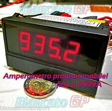 AMPEROMETRO PROGRAMMABILE DIGITALE DA PANNELLO CON RELÉ 1A 10A 100A 1000A LED