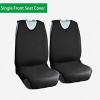 Black Simple Front Single Car Seat Cover Protector Universal Easy To Install