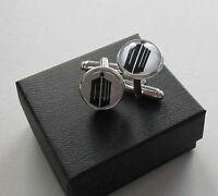 Handmade Gift Idea - Dr Doctor Who Dalek Tardis Mens On Trend Cufflinks - Boxed