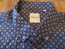 Jack & Jones Premium Floral Geometric Print LS Buttonfront Shirt Size XL