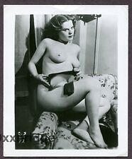 Stern Looking Female Powerful Woman Dangerous 1950 ORIGINAL NUDE PHOTO B2515