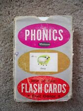 Vintage 1962 Childrens Whitman Phonics FlashcardsHelp Yourself for home & school