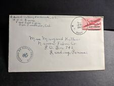 USS BURNS DD-588 Naval Cover 1943 Censored WWII Sailor's Mail
