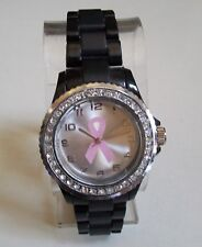 Women's Breast Cancer Awareness Pink Ribbon Rhinestone Fashion Watch