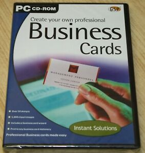 Create Your Own Professional Business Cards PC CD-ROM - New & Sealed