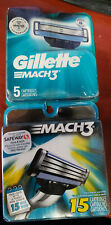 Gillette Mach3 5 Blade Cartridges (20 Brand New Total Cartridges)