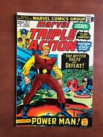 Marvel Triple Action #15 (1973) 6.5 FN Key Issue Bronze Age Comic Book Avengers