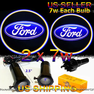 2x 7w Ghost Shadow Laser Projector Logo LED Light Courtesy Door Step FORD