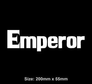 Initial D Emperor Vinyl Decal Sticker JDM Tofu Shop RedSuns