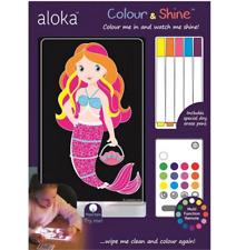 Brand new Aloka colour and shine mermaid multi coloured night light & remote