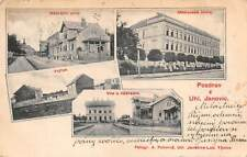JANOVICE, CZECH REPUBLIC ~ MULTI-VIEW, STREET, BUILDINGS ~ used 1907