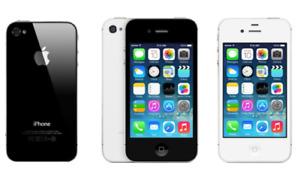 Apple iPhone 4 8GB 16GB 32GB Unlocked Black White Smartphone phone / FULL SET