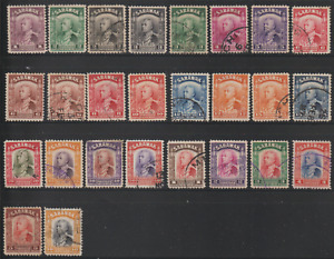 SARAWAK 1934-41 WILKINSON ISSUE SET OF 26v USED CAT RM 1300. READ!!