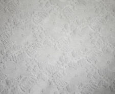 NEW Fabric White Stretch Lace Sewing Dress Material 1 Metre x 150cm