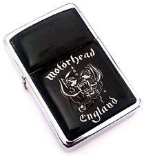 MOTORHEAD England Logo Black Smoking Cigarette Silver Petrol Lighter Metal Rock
