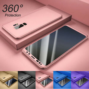For Samsung Galaxy S9/S7/S8/S10 Plus 360° Full Body Hard Case+Screen Protector