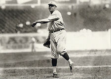 CLASSIC YANKEE BABE RUTH WARMS UP TO PITCH BEFORE GAME AT STADIUM CLASSIC