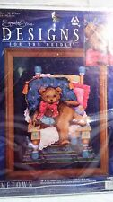 NIP COUNTED CROSS STITCH TEDDY BEAR DESIGNS FOR THE NEEDLE 5611 BEAR IN CHAIR