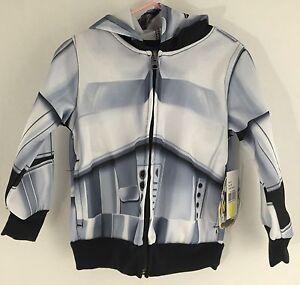 Disney Star Wars StormTrooper Zip Up Hoodie Sweatshirt Size 2T