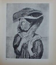 Henri Matisse Lithograph Chroniques du Jour 6 Le Chapeau First Edition 1935