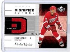 STEVE YZERMAN 2002 UD ROOKIE UPDATE DIGNIFIED JERSEY GAME USED JERSEY#/299