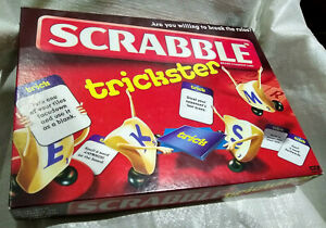Scrabble Trickster Board Game By Mattel - 100% Complete