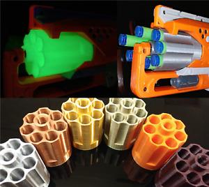 For Nerf Zombie Strike Hammershot Blaster 7 Round Cylinder 3D Print Mod Revolver