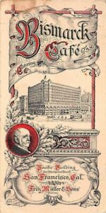 SAN FRANCISCO, CA, BISMARCK CAFE & CATERING CO ADV ITEM, MULLER & SONS OWNERS