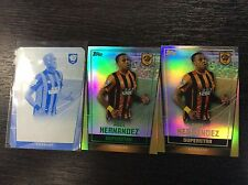 2015 Topps Premier Club Abel Hernandez 3 pc Green Gold Print Plate 1/1 Hull City
