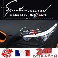 Pegatina Deportes Mind BMW M Motorsport NUEVO MODELO BLANCO adhesivo aufkleberSt