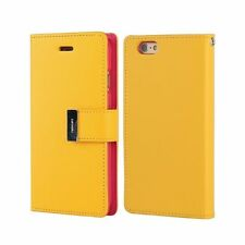 Dual Card Holder Cash Wallet Leather Book Flip Case Cover For iPhone Samsung HTC