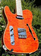 EDLE WELLER TELEMATIK*QUILTED MAPLE*STRINGS THRU BODY*AHORN HALS*LINKSHÄNDER
