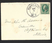 SPRING LAKE, NEW JERSEY COVER.  Monmouth 1877/.  Fancy Star Cancel & Fancy DCDS