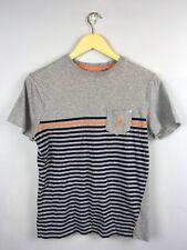 Kangol Grey marl  T-shirt Size Small Sailor Strips Summer 100% cotton