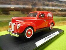 Oficial Coca Cola Diecast 1940 Ford Sedan Coca Cola Entrega van 1/24 Nuevo Y En Caja