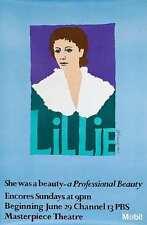 Original Vintage Poster Lillie James Brough Prince Masterpiece Theatre PBS 1980s
