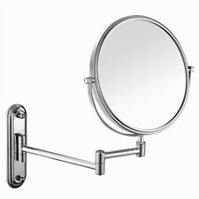 Reversible 2-side 5x Magnifying Bathroom Makeup Shaving Mirror Wall Extendable