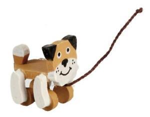 Dolls House Pull Along Dog Miniature 1:12 Nursery Toy Shop Accessory