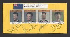New Zealand Cricket Autographs Vettori McCullum Benett Franklin