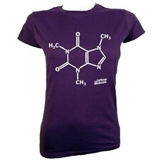 T-shirt Caffeine Molecule Women's Purple