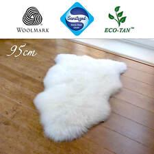 New 95cm Ultra Fleece Single Sheepskin Rug Eco-Tan Sanitized Australian Lambskin
