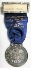 Vintage 1928 Ibm International Brotherhood Of Magicians Lima Convention Medal