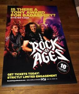ROCK OF AGES 10TH ANNIVERSARY BROADWAY NY NYC  4FT subway POSTER #2 2019