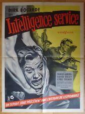 INTELLIGENCE SERVICE D. Bogarde 1957 Affiche Originale 60x80 Vintage Poster