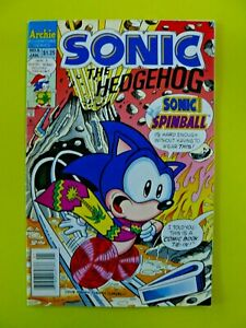 Sonic the Hedgehog #6 - Sonic Spinball - Newsstand - VG - Archie Comics